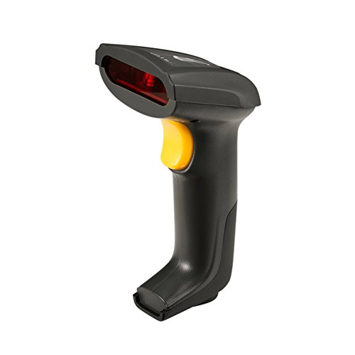 ZKTeco Wired Barcode Scanner Handheld Laser Bar Code Reader/Automatic 1D Barcode Scanner for Store POS Warehouse by ZKTeco