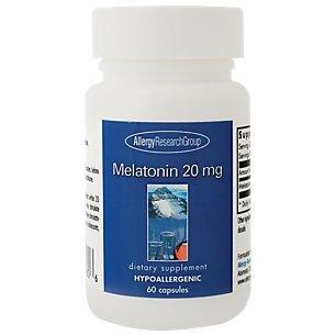 Allergy Research (Nutricology) - Melatonin 20 Milligram, 60 Veggie Capsules