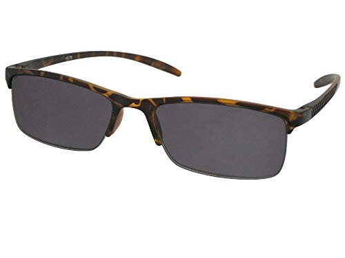 - Style R41 Slim Shape Reading Sunglasses With Sunglass Rage Pouch (Tortoise Frame-Gray Lenses, 3.00)