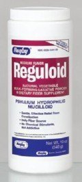 Bulk Forming Laxatives - Reguloid Natural Vegetable Bulk forming Laxative Powder, Regular Flavour - 19 Oz by RUGBY LABORATORIES
