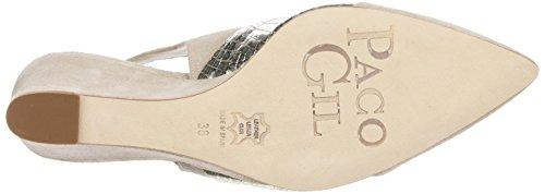Paco Gil P3011 - Zapatos de Talón Abierto Mujer Beige