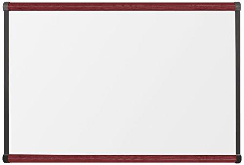 (Best-Rite Premium Porcelain Origin Trim Magnetic Dry Erase Whiteboard, 2 x 3 Feet, Mahogany Trim (202OB-03))