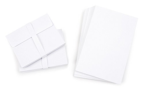 Blank Cards and Envelopes - White - 4.25 x 5.5 - (100 Count) by Darice