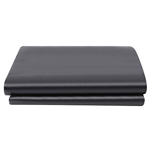 (TimmyHouse Snooker Table Cover Foot Heavy Duty Fitted Leatherette Billiard Pool Black 9' ft)