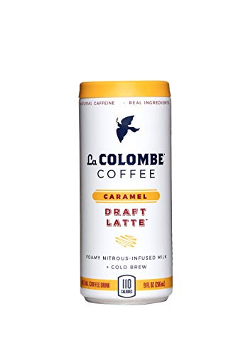 La Colombe Caramel Draft Latte - 9 Fluid Ounce, 16 Count - Cold-Pressed Espresso and Frothed Milk + Real Caramel - Made With Real Ingredients - Grab And Go Coffee