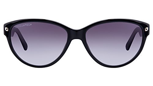 Dsquared2 DQ0147 01B Shiny Black/Gradient Smoke Cateye Womens Sunglasses 57mm
