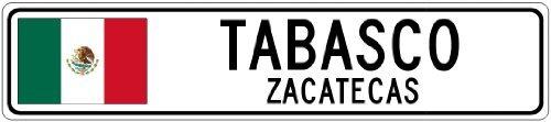 Custom Street SignTABASCO, ZACATECAS - Mexico Flag City Sign - 3x18 Inches Aluminum Metal Sign