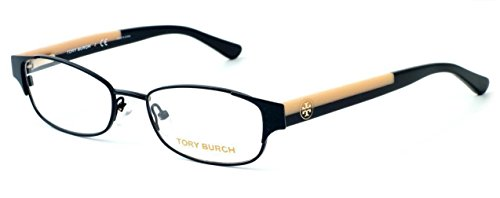 TORY BURCH Eyeglasses TY 1037 3009 Black Cream - Tory Eyeglass Burch Case