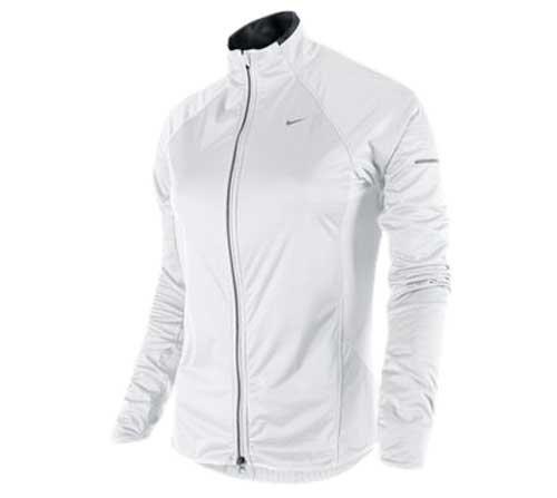 c88804fe896b Nike element shield dri fit stay warm womens full zip running jacket  training top white 425074 white (small)  Amazon.co.uk  Sports   Outdoors