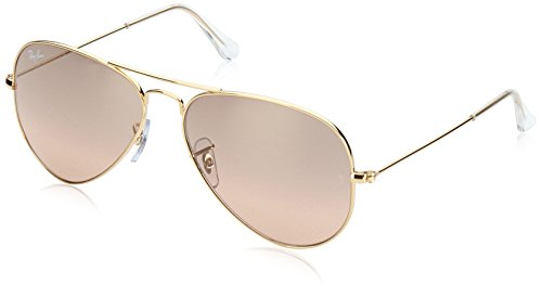 Ray-Ban AVIATOR LARGE METAL - GOLD Frame CRYS.BROWN-PINK SIL