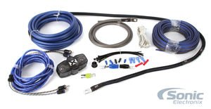 NVX 100% Copper 4-Gauge Car Amp Install Kit w/ 2-Channel RCA, Up to 1000 Watts RMS ()