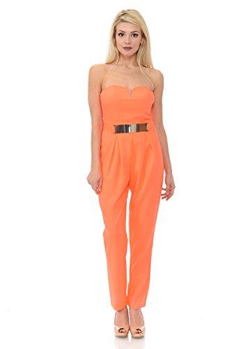 VIRGIN ONLY Women's Easy Fit Jumpsuit (963 Orange, Size (Orange Jumpsuit Buy)