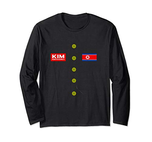 Long Sleeve Kim Jong Un Shirt Funny Halloween Costume Tee -