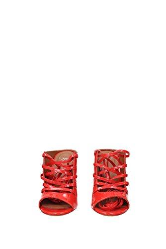 Rødt Givenchy be09203044 Patent Lær Uk Kvinner Sandaler wqwTO
