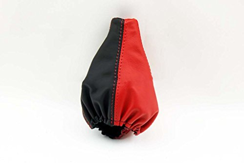 Torch Red Corvette - Fits 1997-2004 Corvette C5 Real Black/Torch Red Leather Automatic Shift Boot . (Skin Only)