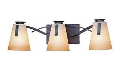 Volume Lighting Lodge 3-light frontier iron bathroom vanity