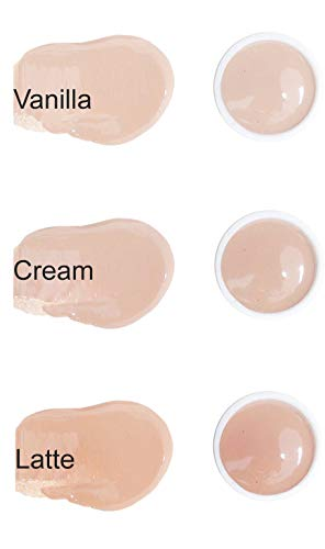 (BaeBlu Organic LUX Liquid Foundation SAMPLES, Vanilla, Cream, Latte)