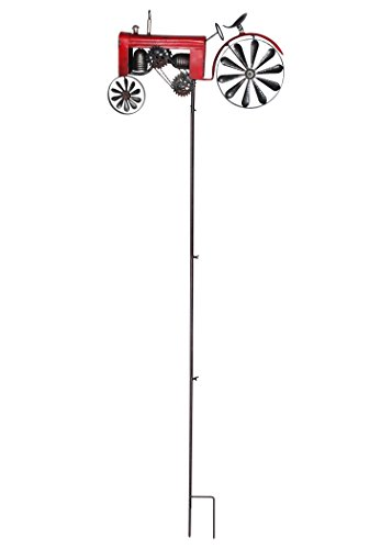 Russco III WS144638 Metal Transit Wind Spinners, Tractor - Red Tractor Spinner