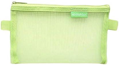 Qinlee - Estuche transparente para documentos, bolsa con cremallera, neceser de malla, juego de bolsillos con cremallera para archivos, documentos, cosméticos y utensilios de viaje, color verde: Amazon.es: Bricolaje y herramientas