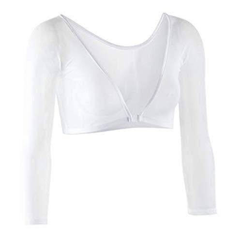 Sleevey Wonders Women's Basic 3/4 Length Slip-on Mesh Sleeves XL White