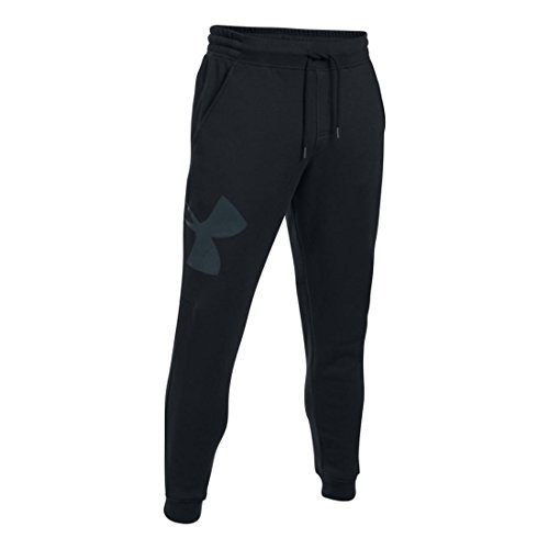 Under Armour Men's Rival Exploded Logo Jogger, Black, XL x One Size ()