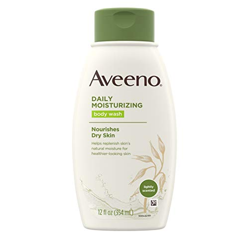 Aveeno Daily Moisturizing Body Wash with Soothing Oat, Creamy Shower Gel, Soap-Free and Dye-Free, Light Fragrance, 12 fl…