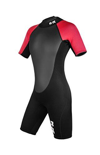 PI-PE Damen Neoprenanzug Active Spring Short Sleeve, Red, S, PNA-3-R
