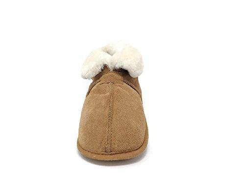 Heren Premium Echte Australische Schapenvacht Slippers Zachte Zool Slip Op Loafers Booties (bruin, Medium)