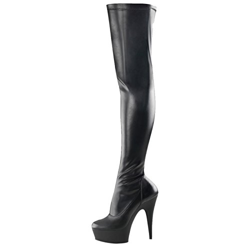 Pleaser - Sexier Than Ever Plateau Overknee Stiefel Delight-3000