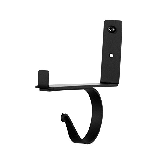 (Iron Shelf Bracket Center Support -Single-Heavy Duty Metal Curtain Pole Shelving Support)