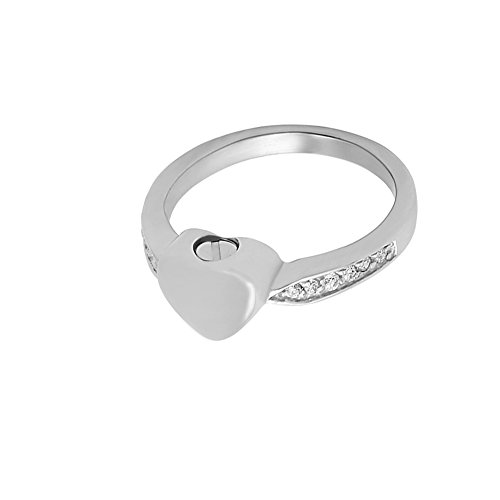 constantlife #6#7#9 Crystal Inlay Eternity Ring Stainless Steel Ash Holder Memorial Finger Ring Cremation Jewelry for Ashes