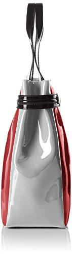 Armani 922548CC852, Borsa shopper Donna Rosso (Rot (Burgundy-grigio-nero 07376))