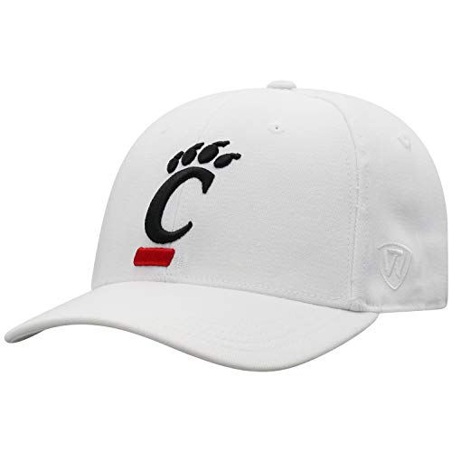 - Top of the World Cincinnati Bearcats Men's Memory Fit Hat Icon, White, One Fit
