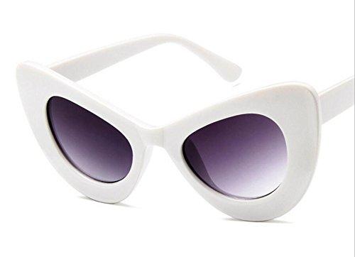 blanc Voyage Soleil Outdoor Papillon Cadre joy Eye Cat nbsp;Lunettes UV400 de rétro Feeling de Soleil Lunettes Femme PHqwav