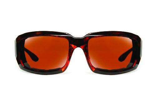Eyesential Dry Eye Sunglasses Medium Large Rectangle Copper Tortoise(Female)