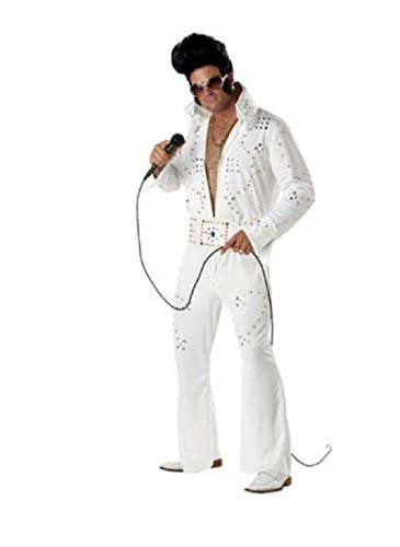 California Costumes Men's Rock Legend Costume, White, Small ()