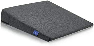 DYNMC you Bequemes Keilkissen - Sitzkissen Bürostuhl mit Anti-Rutsch Unterseite - Sitzkeil Ideal für Bürostuhl - Sitzkissen Auto (Dunkelgrau)