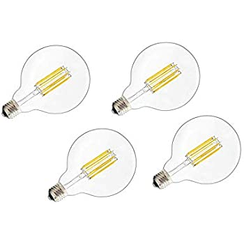 OK Lighting Large Globe Shape Dimmable Vintage Edison LED Light Filament Bulb G30/G95 6W