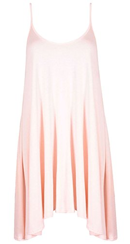 21fashion mangas sin Peach para de color tirantes One Camiseta rosa mujer Size nxpBEIawq
