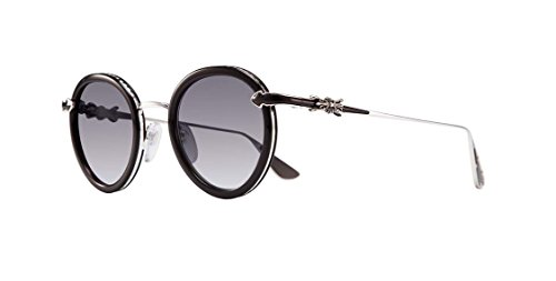 Chrome Hearts - Bo'Jmir I - Sunglasses (Black/Shiny Silver, Smoke - Online Sunglasses Chrome Hearts
