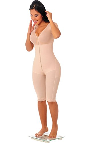 Fajas Salome Womens 0523 Capri Liposculpture Girdle With Bra at Amazon Womens Clothing store: