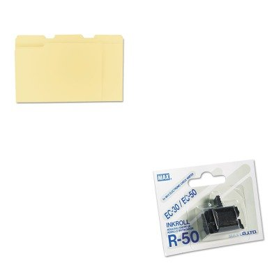 R50 Ink Replacement Roller - KITMXBR50UNV12113 - Value Kit - Max USA Corp R50 Replacement Ink Roller (MXBR50) and Universal File Folders (UNV12113)