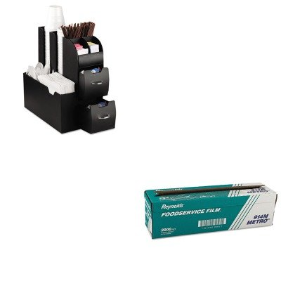 (KITEMSCAD01BLKRFP914M - Value Kit - Reynolds Metro Light-Duty PVC Film Roll w/Cutter Box (RFP914M) and Ems Mind Reader Llc Coffee Organizer (EMSCAD01BLK))