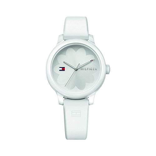 Tommy Hilfiger Women's 'Everyday Sport' Quartz Resin and Silicone Casual Watch, Color White (Model: 1781774)