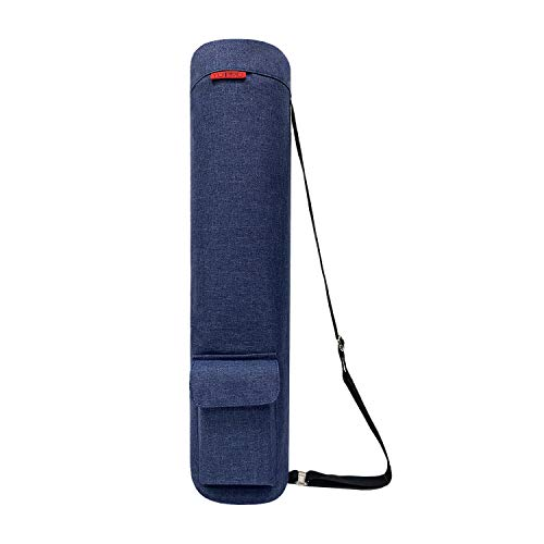 YOTIMO Yoga Mat Bag,Full Zip Exercise Yoga Mat Sling Bag with Multi-Functional Storage Pockets (Frosted Blue)