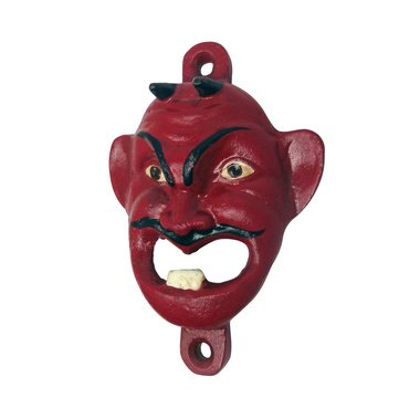 Red Horned Devil Beelzebub Bottle Opener Iron Sculpture (Digital Angel Decor)