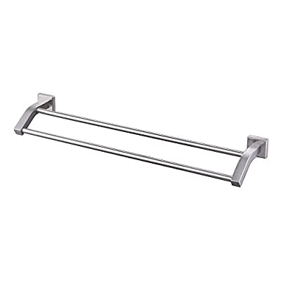 KES Bathroom Double Towel Bar Wall Mount SUS304 Stainless Steel, A2202-P