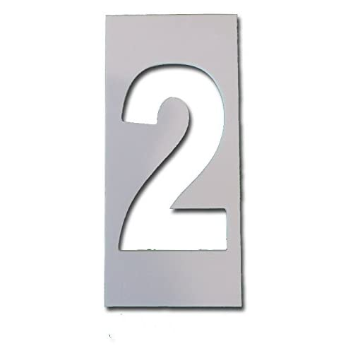 # 2, Individual Curb Painting Stencil, 4in number, flexible plastic