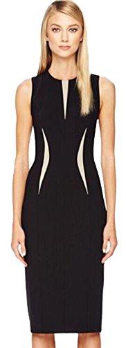 U-shot–Bloque de color sin mangas de la dama de dama vestido de noche vestido de fiesta