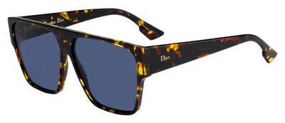 Christian Dior DIORHIT P65 Brown Yellow Havana Oversized Sunglasses for Christian Dior Brown Havana Sunglasses